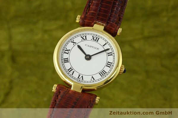 Used luxury watch Cartier Vermeil silver-gilt quartz Kal. 81  | 142250 04