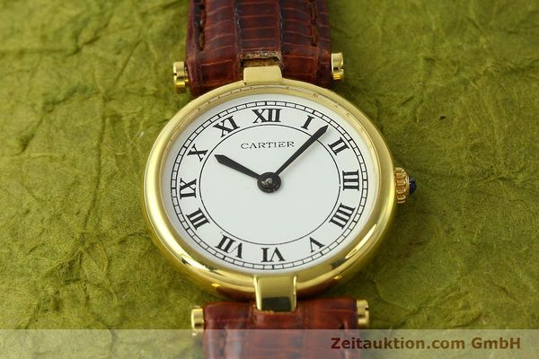 Used luxury watch Cartier Vermeil silver-gilt quartz Kal. 81  | 142250 13