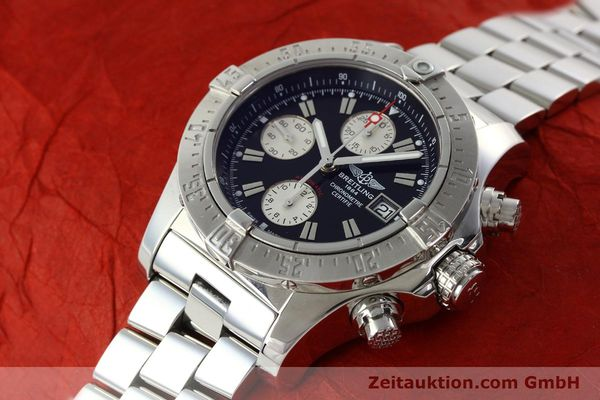 Used luxury watch Breitling Avenger chronograph steel automatic Kal. B13 ETA 7750 Ref. A13380  | 142251 01