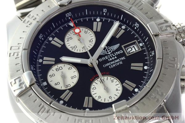 Used luxury watch Breitling Avenger chronograph steel automatic Kal. B13 ETA 7750 Ref. A13380  | 142251 02