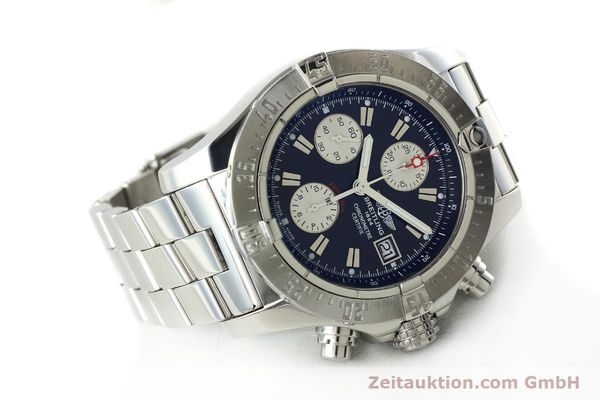 Used luxury watch Breitling Avenger chronograph steel automatic Kal. B13 ETA 7750 Ref. A13380  | 142251 03