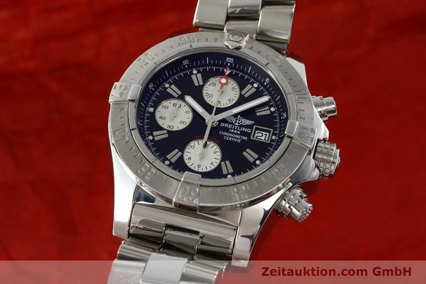 Used luxury watch Breitling Avenger chronograph steel automatic Kal. B13 ETA 7750 Ref. A13380  | 142251 04