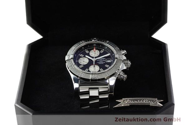Used luxury watch Breitling Avenger chronograph steel automatic Kal. B13 ETA 7750 Ref. A13380  | 142251 07