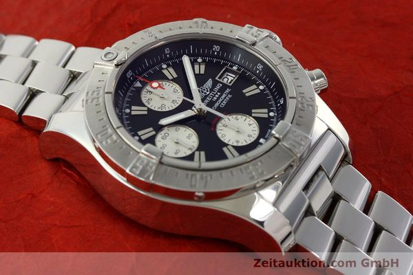 Used luxury watch Breitling Avenger chronograph steel automatic Kal. B13 ETA 7750 Ref. A13380  | 142251 14