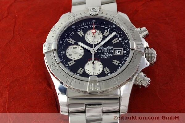Used luxury watch Breitling Avenger chronograph steel automatic Kal. B13 ETA 7750 Ref. A13380  | 142251 15