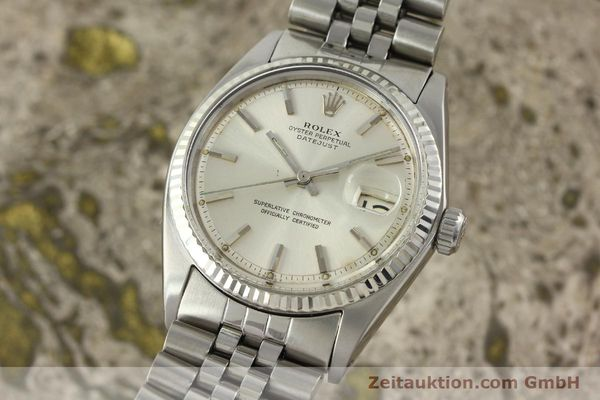 Used luxury watch Rolex Datejust steel / white gold automatic Kal. 1570 Ref. 1603  | 142252 04