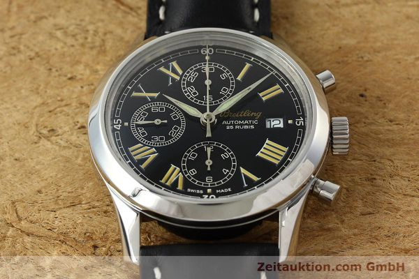 Used luxury watch Breitling Grand Premier chronograph steel automatic Kal. B13 ETA 7750 Ref. A13024.1  | 142254 14