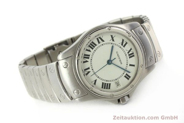 Used luxury watch Cartier Cougar steel automatic Kal. 049 ETA 2892A2  | 142260 03