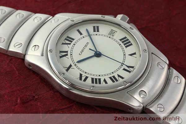 Used luxury watch Cartier Cougar steel automatic Kal. 049 ETA 2892A2  | 142260 14