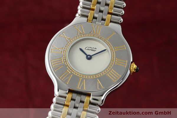 Used luxury watch Cartier Ligne 21 gilt steel quartz Kal. 90  | 142267 04