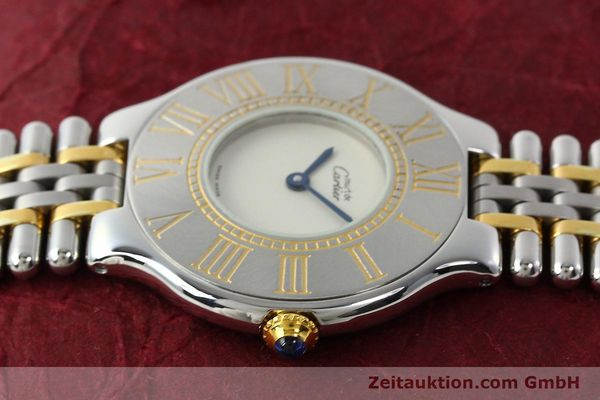 Used luxury watch Cartier Ligne 21 gilt steel quartz Kal. 90  | 142267 05