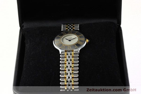 Used luxury watch Cartier Ligne 21 gilt steel quartz Kal. 90  | 142267 07