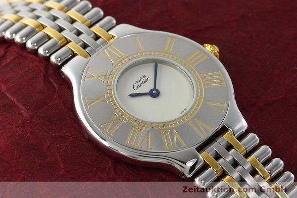 Used luxury watch Cartier Ligne 21 gilt steel quartz Kal. 90  | 142267 13