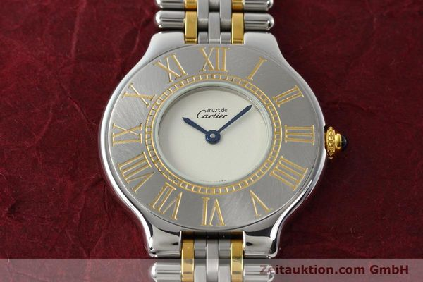 Used luxury watch Cartier Ligne 21 gilt steel quartz Kal. 90  | 142267 14