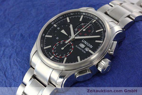 Used luxury watch Union Glashütte Viro chronograph steel automatic Kal. U7750 Ref. D001.414A  | 142270 01