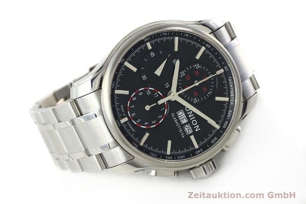 Used luxury watch Union Glashütte Viro chronograph steel automatic Kal. U7750 Ref. D001.414A  | 142270 03