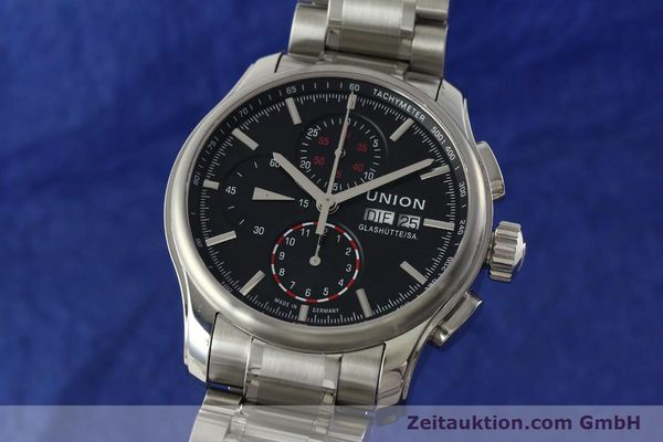 Used luxury watch Union Glashütte Viro chronograph steel automatic Kal. U7750 Ref. D001.414A  | 142270 04