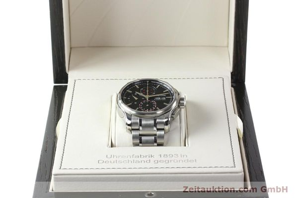 Used luxury watch Union Glashütte Viro chronograph steel automatic Kal. U7750 Ref. D001.414A  | 142270 07