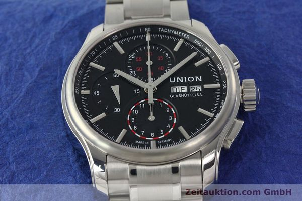 Used luxury watch Union Glashütte Viro chronograph steel automatic Kal. U7750 Ref. D001.414A  | 142270 16