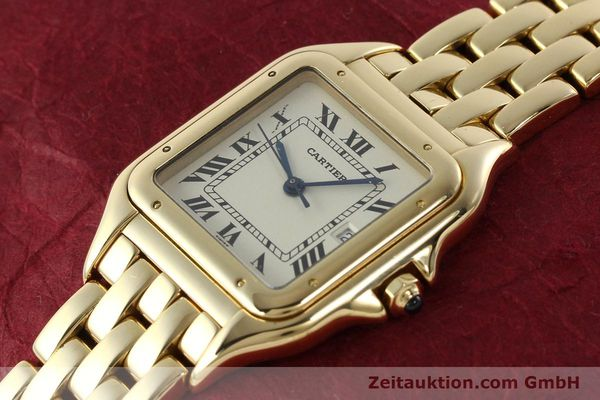 gebrauchte Luxusuhr Cartier Panthere 18k Gold Quarz Kal. 87  | 142272 01