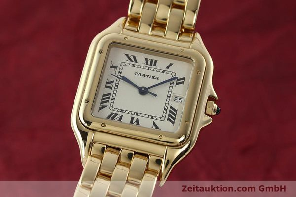 gebrauchte Luxusuhr Cartier Panthere 18k Gold Quarz Kal. 87  | 142272 04