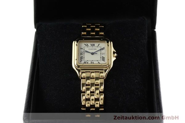 gebrauchte Luxusuhr Cartier Panthere 18k Gold Quarz Kal. 87  | 142272 07