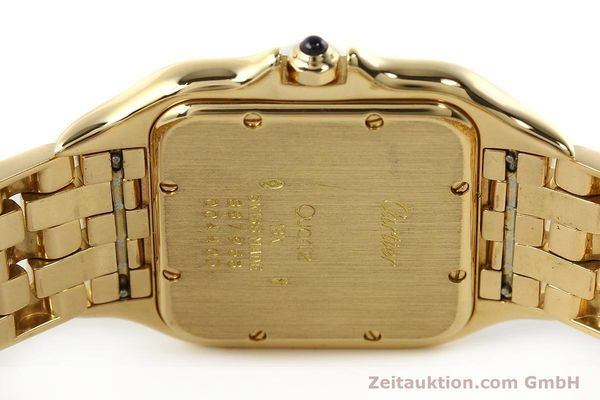 gebrauchte Luxusuhr Cartier Panthere 18k Gold Quarz Kal. 87  | 142272 09