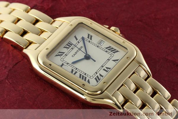 gebrauchte Luxusuhr Cartier Panthere 18k Gold Quarz Kal. 87  | 142272 14