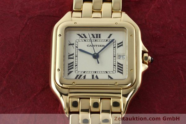 gebrauchte Luxusuhr Cartier Panthere 18k Gold Quarz Kal. 87  | 142272 15