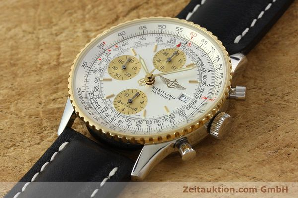 Used luxury watch Breitling Navitimer chronograph steel / gold automatic Kal. B13 ETA 7750 Ref. D13322  | 142274 01