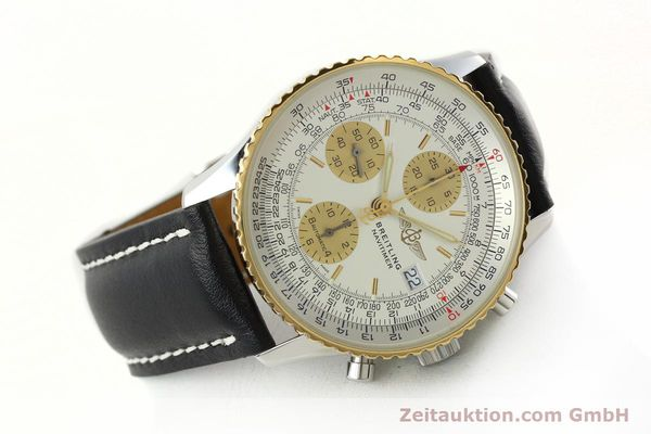 Used luxury watch Breitling Navitimer chronograph steel / gold automatic Kal. B13 ETA 7750 Ref. D13322  | 142274 03