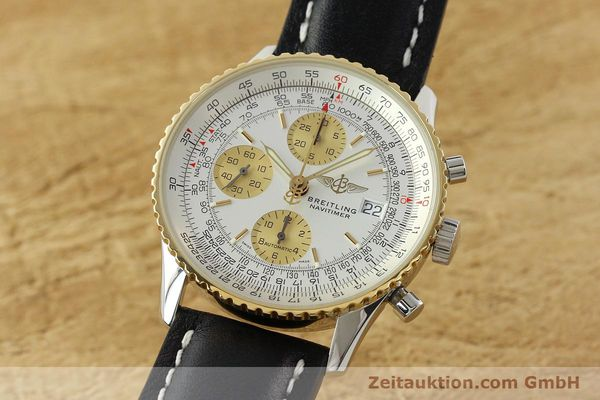Used luxury watch Breitling Navitimer chronograph steel / gold automatic Kal. B13 ETA 7750 Ref. D13322  | 142274 04