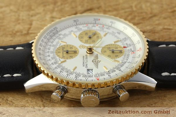 Used luxury watch Breitling Navitimer chronograph steel / gold automatic Kal. B13 ETA 7750 Ref. D13322  | 142274 05
