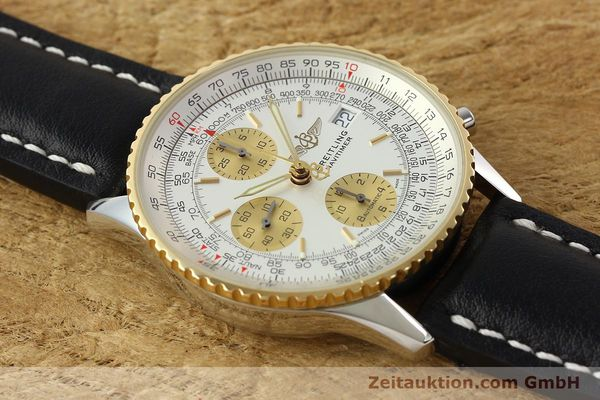 Used luxury watch Breitling Navitimer chronograph steel / gold automatic Kal. B13 ETA 7750 Ref. D13322  | 142274 16