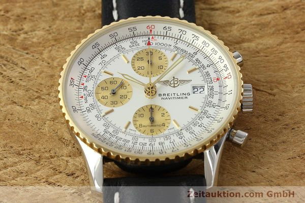 Used luxury watch Breitling Navitimer chronograph steel / gold automatic Kal. B13 ETA 7750 Ref. D13322  | 142274 17