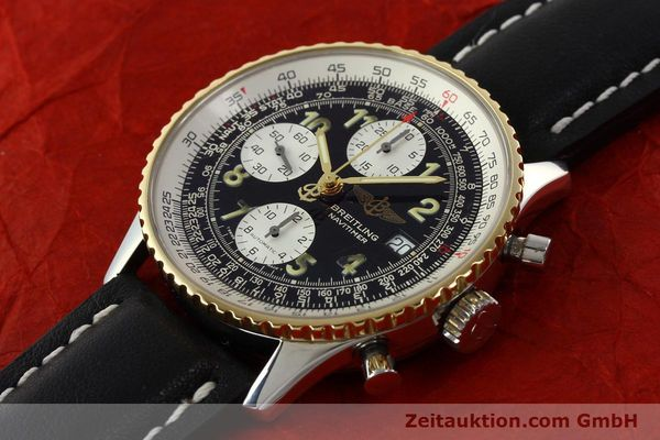 Used luxury watch Breitling Navitimer chronograph steel / gold automatic Kal. B13 ETA 7750 Ref. D13022  | 142275 01