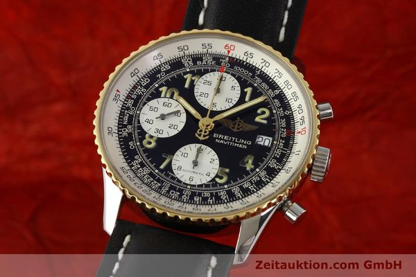 Used luxury watch Breitling Navitimer chronograph steel / gold automatic Kal. B13 ETA 7750 Ref. D13022  | 142275 04