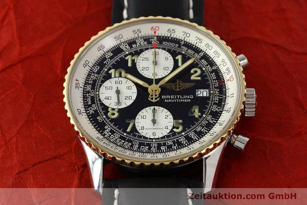 Used luxury watch Breitling Navitimer chronograph steel / gold automatic Kal. B13 ETA 7750 Ref. D13022  | 142275 14