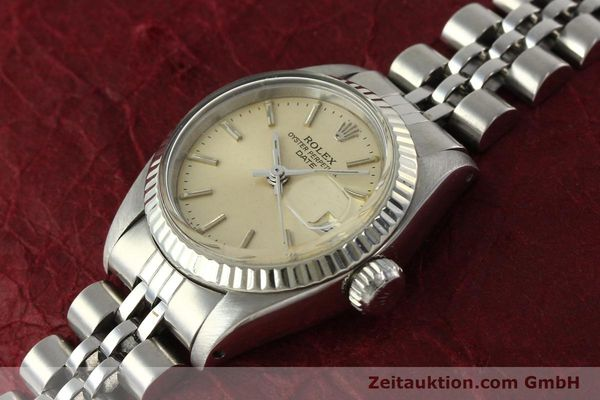 Used luxury watch Rolex Lady Date steel / white gold automatic Kal. 2030 Ref. 6917  | 142278 01