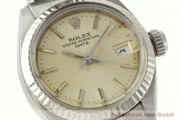 Used luxury watch Rolex Lady Date steel / white gold automatic Kal. 2030 Ref. 6917  | 142278 02