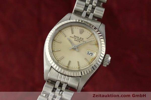 Used luxury watch Rolex Lady Date steel / white gold automatic Kal. 2030 Ref. 6917  | 142278 04