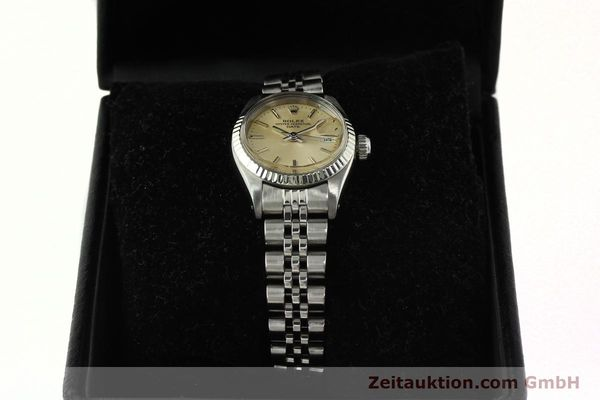 Used luxury watch Rolex Lady Date steel / white gold automatic Kal. 2030 Ref. 6917  | 142278 07