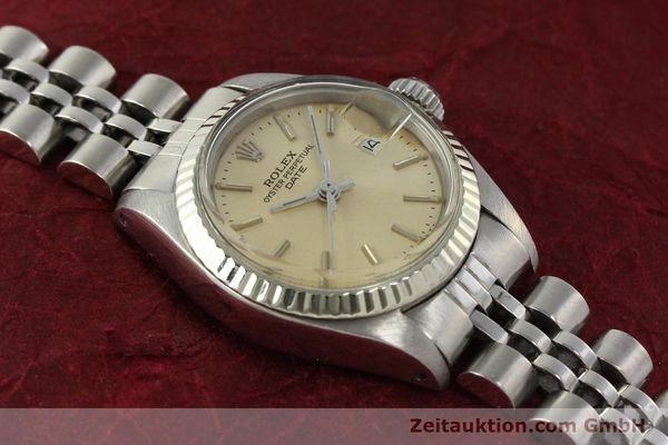 Used luxury watch Rolex Lady Date steel / white gold automatic Kal. 2030 Ref. 6917  | 142278 15