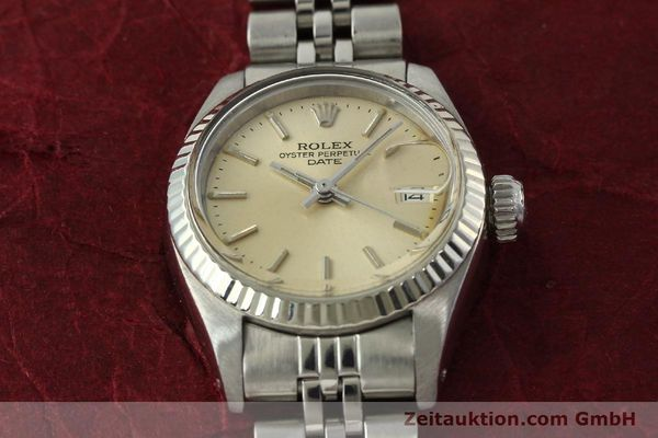 Used luxury watch Rolex Lady Date steel / white gold automatic Kal. 2030 Ref. 6917  | 142278 16