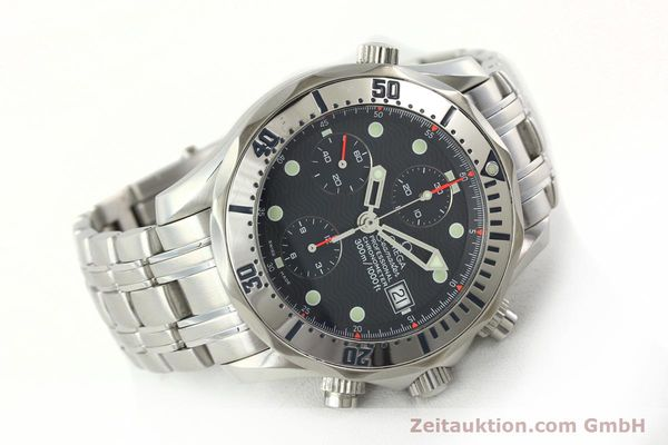 Used luxury watch Omega Seamaster chronograph steel automatic Kal. 1164  | 142279 03