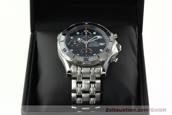 Used luxury watch Omega Seamaster chronograph steel automatic Kal. 1164  | 142279 07