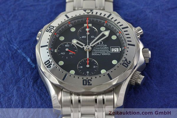 Used luxury watch Omega Seamaster chronograph steel automatic Kal. 1164  | 142279 17