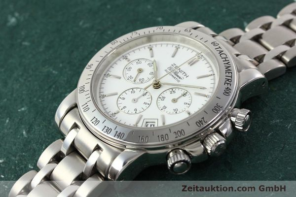 Used luxury watch Zenith Elprimero chronograph steel automatic Kal. 400 Ref. 02.0360.400  | 142287 01