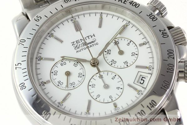 Used luxury watch Zenith Elprimero chronograph steel automatic Kal. 400 Ref. 02.0360.400  | 142287 02