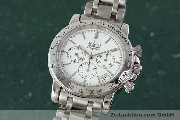 Used luxury watch Zenith Elprimero chronograph steel automatic Kal. 400 Ref. 02.0360.400  | 142287 04